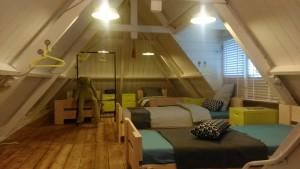 Dachgeschoß 5 Betten Schlafzimmer
